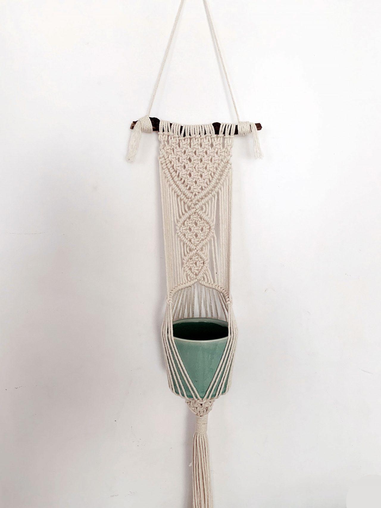 Suspension macramé hanger pour plantes La Revue Vertu