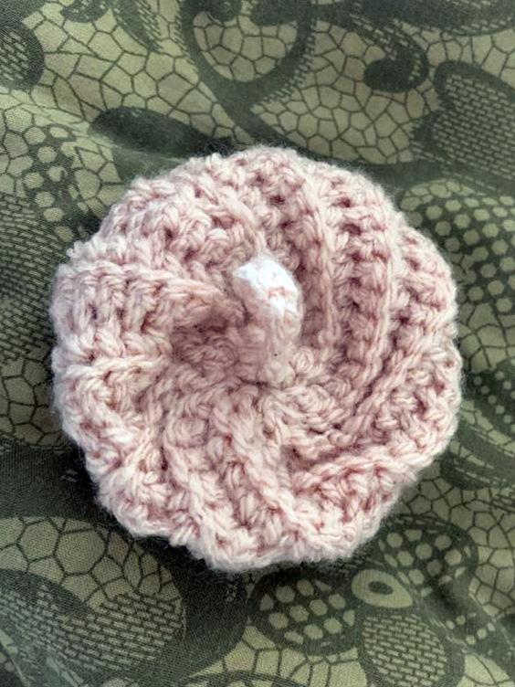 éponges écologiques tawashi crochetées spirale