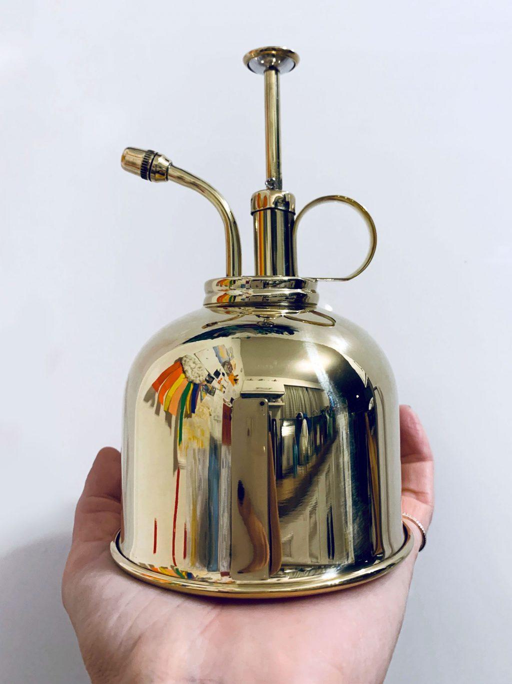 Vaporisateur pour plantes doré vintage