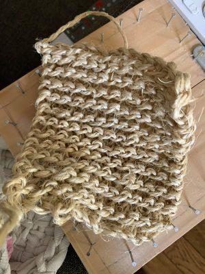 éponge tawashi écologique en sisal tricotée