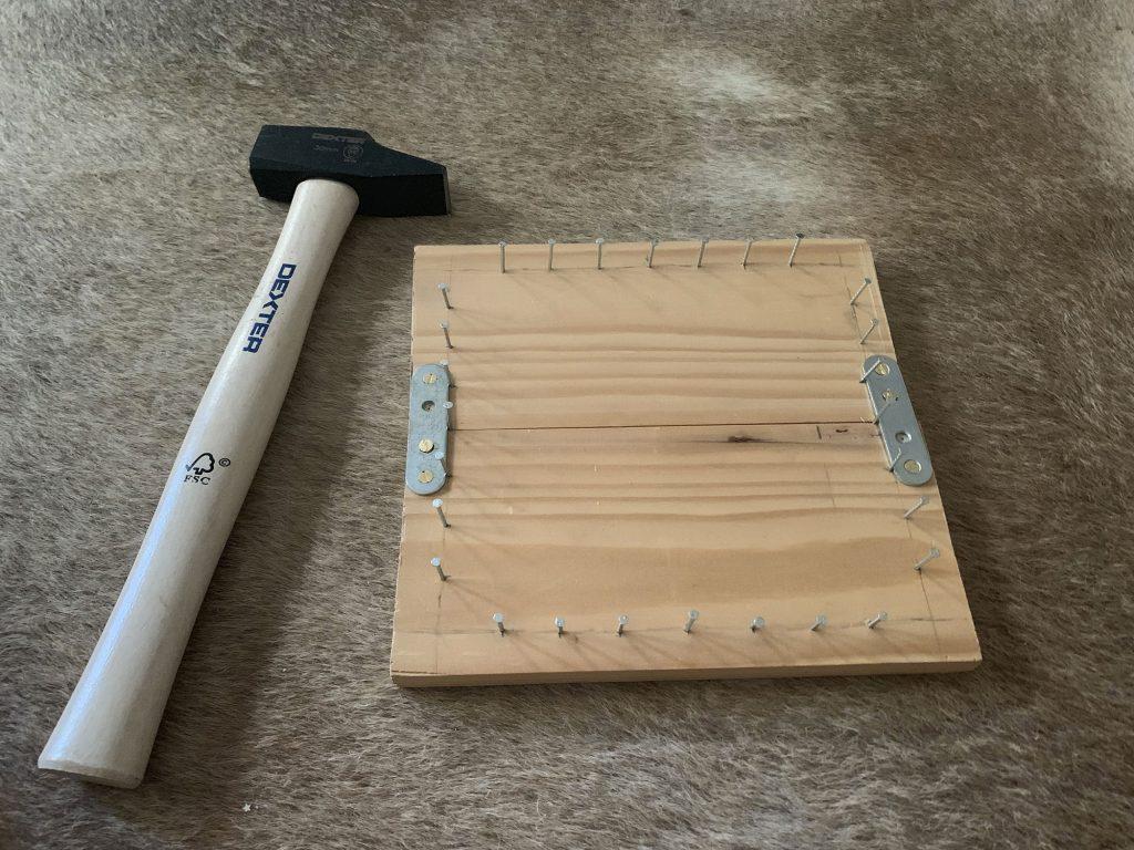 eponge tawashi tshirt recycle planche en bois