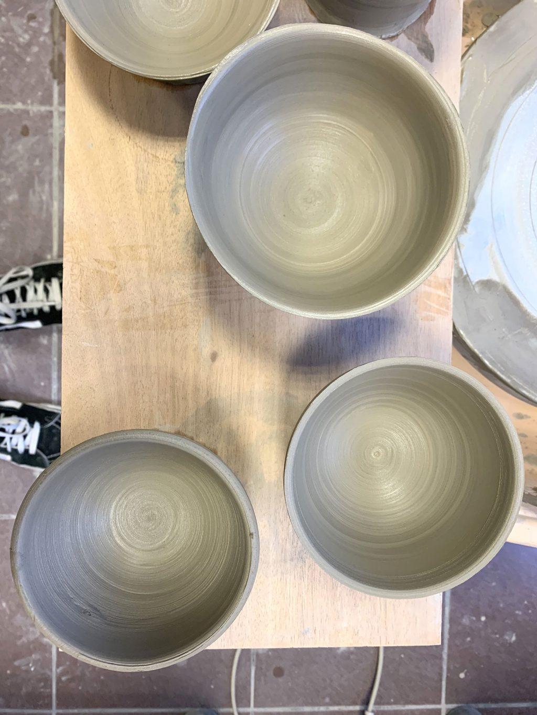 Bols argile - stage de poterie tournage paris Argilerie