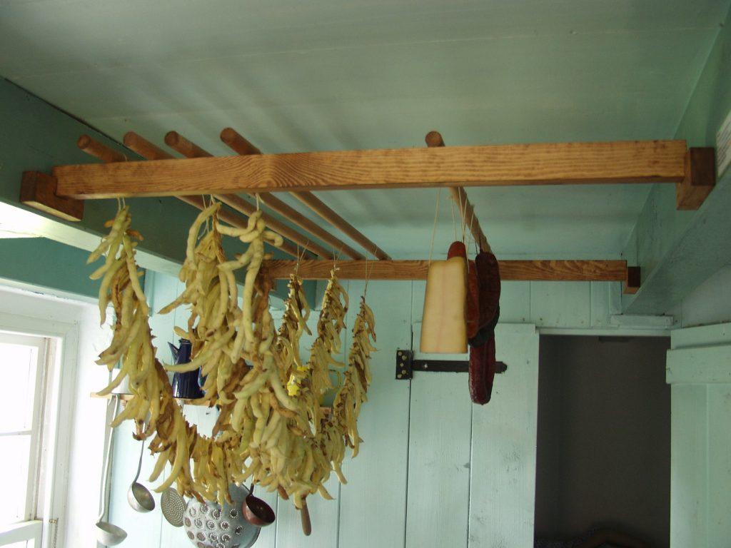 haricots séchés sur un fil en allemagne